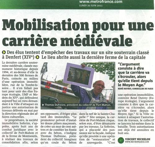 Article Métro juin 2011.jpg
